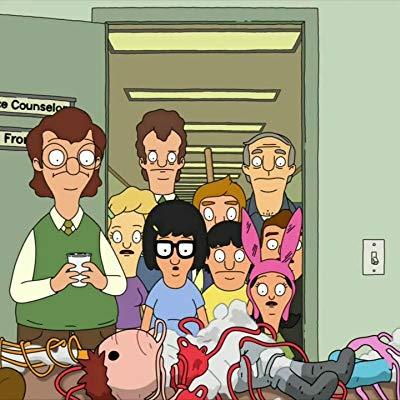 Bob Belcher, Jimmy Jr., Speedo Guy, Ms. LaBonz, Peter Pescadero, Jeremy, Parrot, Alien Baby #3, Aunt Frida, Bad Kuchikopi...