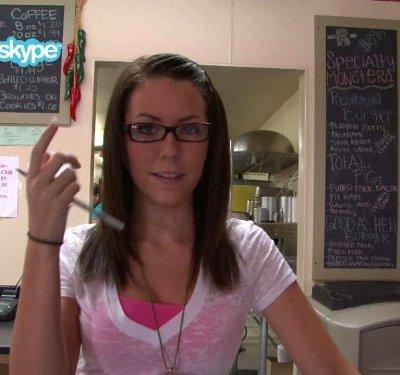 Herself - Rebel BBQ cashier
